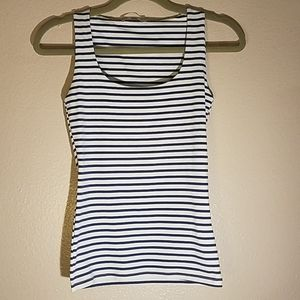 Zara Woman Striped Fitted Tank Made in Portugal